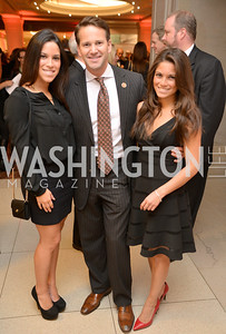 Karla Gomez, Congressman Aaron Schock, Monica Gomez, Steven Spielberg at the National Archives. November 19, 2013.  Photo by Ben Droz.