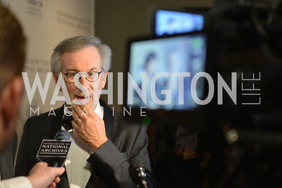 Steven Spielberg at the National Archives. November 19, 2013.  Photo by Ben Droz.