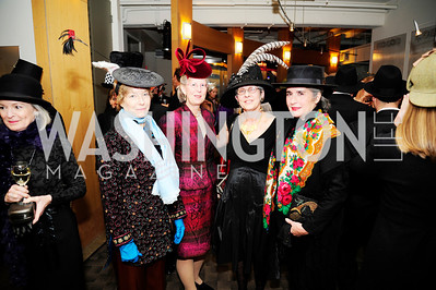 Wendi Garner,Bobbi Terkowitz,Susan Butler,Louise Levathes,February 9,2013,Studio Theatre Mad Hat Gala .Kyle Samperton