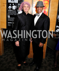 Chuck Johnson,J.P.Singh,February 9,2013,Studio Theatre Mad Hat Gala .Kyle Samperton