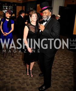 Liz Cullen,Vince Brown,February 9,2013,Studio Theatre Mad Hat Gala .Kyle Samperton