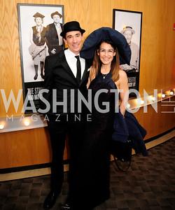 David Muse,Angela Fox,February 9,2013,Studio Theatre Mad Hat Gala .Kyle Samperton