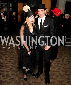 Kate Perry,David Muse,February 9,2013,Studio Theatre Mad Hat Gala .Kyle Samperton