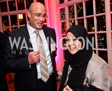 Drs. Mohamed Shaalan, Samia Al-Amoudi. Photo by Tony Powell. Susan G. Komen for the Cure Global Women's Cancer Summit. Fairmont Hotel. February 3, 2013