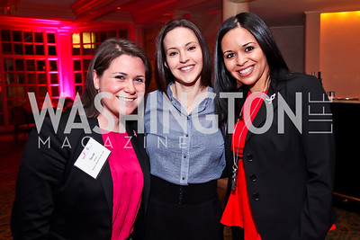 Nicole Riibner, Jen Jensen, Sally Elnaggar. Photo by Tony Powell. Susan G. Komen for the Cure Global Women's Cancer Summit. Fairmont Hotel. February 3, 2013