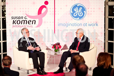 Wolf Blitzer, David Rubenstein. Photo by Tony Powell. Susan G. Komen for the Cure Global Women's Cancer Summit. Fairmont Hotel. February 3, 2013