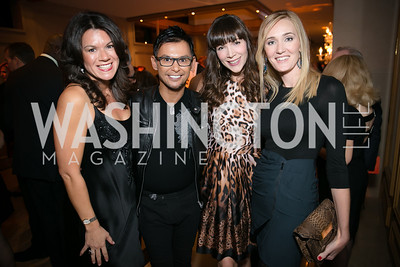 Steph Polis, Erwin Gomez, Elizabeth Moeller, Britlan Malek. Photo by Alfredo Flores. Taste of the Stars for Starlight Children's Foundation. Four Seasons. November 23, 2013
