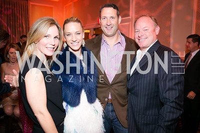 Ammie Magruder, Kirsten Pollin, Dave Pollin, Mike Magruder. Photo by Alfredo Flores. Taste of the Stars for Starlight Children's Foundation. Four Seasons. November 23, 2013