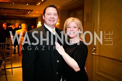 Damon Buchmoyer, Kelly Anastasi. Photo by Alfredo Flores. Taste of the Stars for Starlight Children's Foundation. Four Seasons. November 23, 2013.
