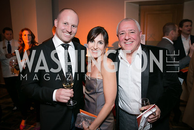 Jeff Zell, Jenn Haber, Frederic Depue. Photo by Alfredo Flores. Taste of the Stars for Starlight Children's Foundation. Four Seasons. November 23, 2013.