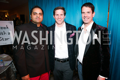 Amit Vyas, Pete Snyder, Griff Jenkins. Photo by Alfredo Flores. Taste of the Stars for Starlight Children's Foundation. Four Seasons. November 23, 2013.