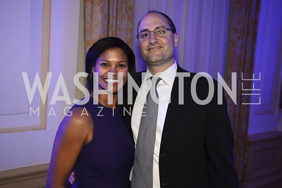 Natasha Luddinstin, Zead Haddad, Teach For America Gala, Omni Shoreham, March 11, 2013, Photo by Ben Droz,