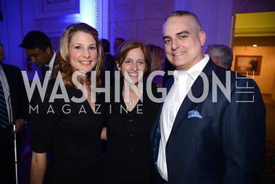 Michele Joubran, Liz Whismant, David Joubran,  Teach For America Gala, Omni Shoreham, March 11, 2013, Photo by Ben Droz,