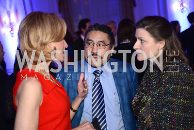 Katherine Bradley, Bob Hisaoka, Paula Hisaoka,  Teach For America Gala, Omni Shoreham, March 11, 2013, Photo by Ben Droz,