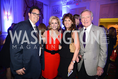 Andrew Dibble, Katherine Bradley, Hillary Baltimore, Jerry Jasinowski,  Teach For America Gala, Omni Shoreham, March 11, 2013, Photo by Ben Droz,