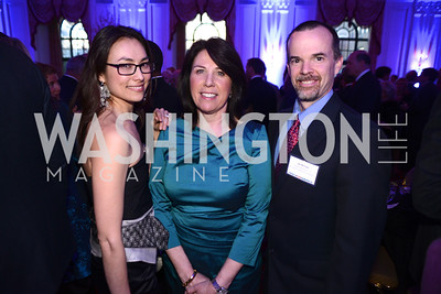 Stacey Pavesi Debre, Joey Sloter, Jay McClain,  Teach For America Gala, Omni Shoreham, March 11, 2013, Photo by Ben Droz,