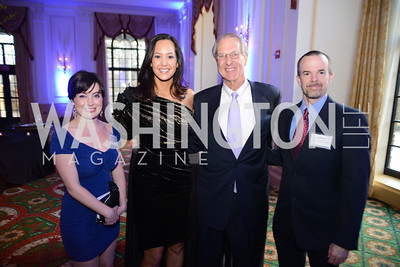 Jessica Jones Blythe, Anhha Smith, Terry Eakin, III ,  Jay McClain , Teach For America Gala, Omni Shoreham, March 11, 2013, Photo by Ben Droz,