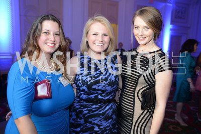 Luci Cambria, Kate Fletcher, Allie Hoffman,  Teach For America Gala, Omni Shoreham, March 11, 2013, Photo by Ben Droz,