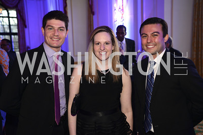 Brent Nagle, Jackie Temkin, Nicolas Perila, Teach For America Gala, Omni Shoreham, March 11, 2013, Photo by Ben Droz,