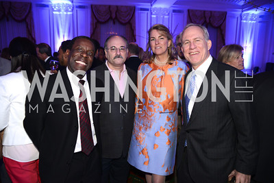 Kevin Beverly, Howard Shapiro, Diana Conway, Bill Conway,  Teach For America Gala, Omni Shoreham, March 11, 2013, Photo by Ben Droz,