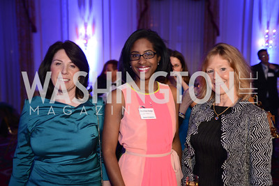Joey Sloter, Destinee Hodge, Polly Walsh, Teach For America Gala, Omni Shoreham, March 11, 2013, Photo by Ben Droz,