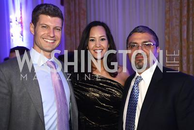 Evan Smith, Ahnna Smith, Jesus Aguirre, Teach For America Gala, Omni Shoreham, March 11, 2013, Photo by Ben Droz,