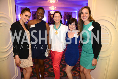 Kimberly Diaz, Wiline Justilien, Jessica James Blythe, Kati Vaughn, Amanda Nichols, Teach For America Gala, Omni Shoreham, March 11, 2013, Photo by Ben Droz,