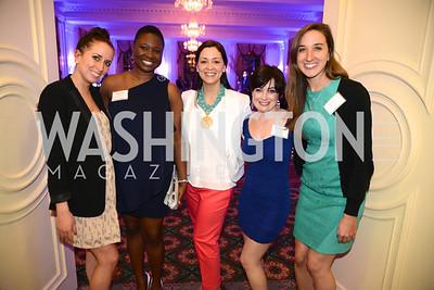 Kimberly Diaz, Wiline Justilien, Jessica James Blythe, Kati Vaughn, Amanda Nichols, Teach For America Gala, Omni Shoreham, March 11, 2013, Photo by Ben Droz,