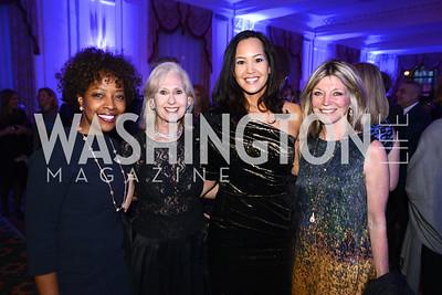 Gina Adams, Willie Lewis, Ahnna Smith, Kay Kandall,  Teach For America Gala, Omni Shoreham, March 11, 2013, Photo by Ben Droz,
