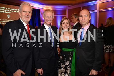 Jack Davies, Jack Evans,  Amanda Marcum, David Catania, Teach For America Gala, Omni Shoreham, March 11, 2013, Photo by Ben Droz,