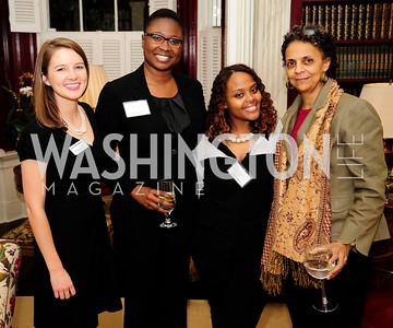 Meredith Ackerman,Wiline Justilien,Nubia Gerima,Shirik Gerima,February 11,2013,Teach for America Cocktails and Conversation,Kyle Samperton