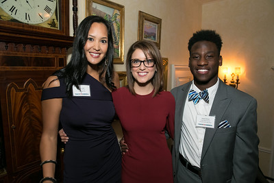 Ahnna Smith, Sarah Lehar, Raequan Reaves. Photo by Alfredo Flores. Teach for America Gala Cocktail Event. The home of Deborah Lehr and John Rogers. November 13, 2013.
