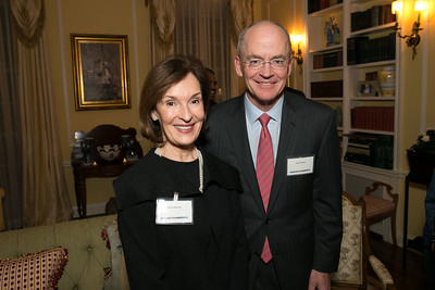 Donna McLarty, David Lawson. Photo by Alfredo Flores. Teach for America Gala Cocktail Event. The home of Deborah Lehr and John Rogers. November 13, 2013.