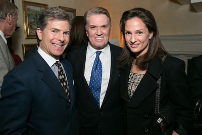 Jeff Weiss, Jack Quinn, Heather Florance. Photo by Alfredo Flores. Teach for America Gala Cocktail Event. The home of Deborah Lehr and John Rogers. November 13, 2013.