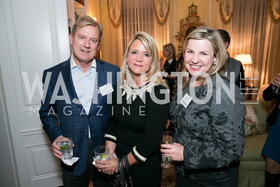 Mark McFadden, Lyn McFadden, Courtney Straus. Photo by Alfredo Flores. Teach for America Gala Cocktail Event. The home of Deborah Lehr and John Rogers. November 13, 2013.
