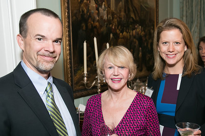 Jay McClain, Doreen Lehr, Chrissy Kousin. Photo by Alfredo Flores. Teach for America Gala Cocktail Event. The home of Deborah Lehr and John Rogers. November 13, 2013.CR2