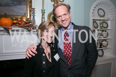 Page Dekker, Dave Dekker. Photo by Alfredo Flores. Teach for America Gala Cocktail Event. The home of Deborah Lehr and John Rogers. November 13, 2013.