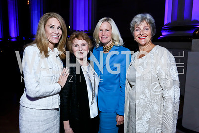 Abigail Blunt, Janet Waxman, Dr. Susan Blumenthal, Martha Ann Alito. Photo by Tony Powell. WL The Children's Inn at NIH 25th Annual Congressional Gala. Mellon Auditorium, October 1, 2013