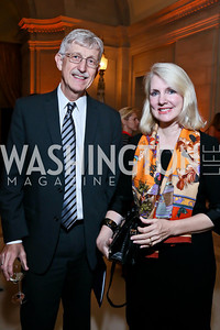 NIH Director Dr. Francis Collins, Jan Smith. Photo by Tony Powell. WL The Children's Inn at NIH 25th Annual Congressional Gala. Mellon Auditorium, October 1, 2013