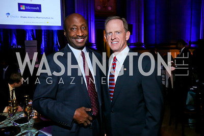 Merck CEO Ken Frazier, Sen. Pat Toomey. Photo by Tony Powell. WL The Children's Inn at NIH 25th Annual Congressional Gala. Mellon Auditorium, October 1, 2013