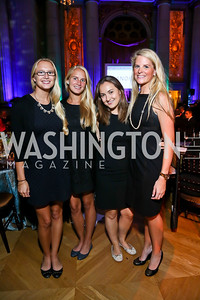 Charlotte and Viveka Jahn, Julia Shinberg, Demi Meeker. Photo by Tony Powell. WL The Children's Inn at NIH 25th Annual Congressional Gala. Mellon Auditorium, October 1, 2013
