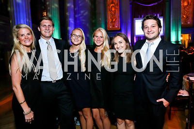 Demi Meeker, Jon Wagner, Charlotte and Viveka Jahn, Julia Shinberg, Chris Lathem. Photo by Tony Powell. WL The Children's Inn at NIH 25th Annual Congressional Gala. Mellon Auditorium, October 1, 2013