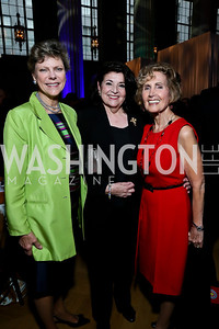 Cokie Roberts, Trustee Carmala Walgren, The Hon. Connie Morella. Photo by Tony Powell. WL The Children's Inn at NIH 25th Annual Congressional Gala. Mellon Auditorium, October 1, 2013