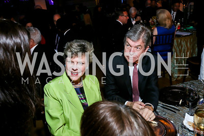 Cokie Roberts, Sen. Roy Blunt. Photo by Tony Powell. WL The Children's Inn at NIH 25th Annual Congressional Gala. Mellon Auditorium, October 1, 2013