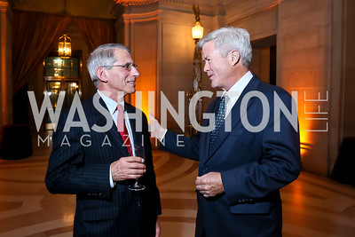 Dr. Anthony Fauci, Doug Walgren. Photo by Tony Powell. WL The Children's Inn at NIH 25th Annual Congressional Gala. Mellon Auditorium, October 1, 2013