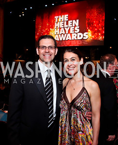 Mitch Bonanno, Angie Fox. Photo by Tony Powell. 2013 Helen Hayes Awards. Warner Theater. April 8, 2013