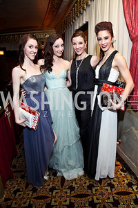 Helen Hayes Award recipients Laura Chachich, Carly Wheaton, Morgann Rose, Francesca Forcella. Photo by Tony Powell. 2013 Helen Hayes Awards. Warner Theater. April 8, 2013