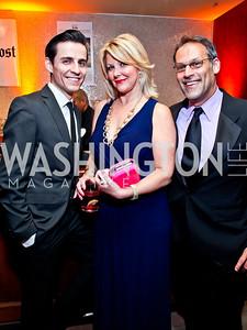 Michael Sazonov, NBC4's Wendy Rieger, Matt Glassman. Photo by Tony Powell. 2013 Helen Hayes Awards. Warner Theater. April 8, 2013