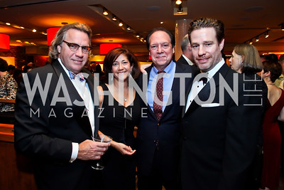 Roger Yoerges, Denise Esposito, Ken Ludwig, Ethan McSweeney. Photo by Tony Powell. 2013 Helen Hayes Awards. Warner Theater. April 8, 2013