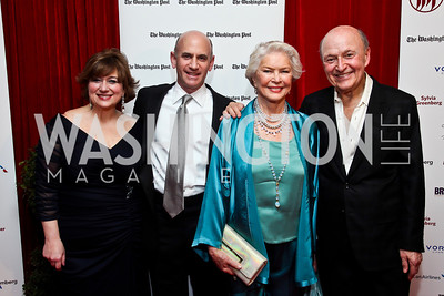 Linda Levy Grossman, Mitchell Shear, Ellen Burstyn, Victor Shargai. Photo by Tony Powell. 2013 Helen Hayes Awards. Warner Theater. April 8, 2013